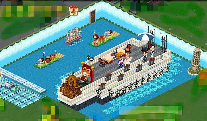 qq餐厅好看装修_QQ餐厅经典创意装修 在船上_QQ下载网