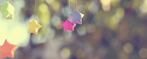 记忆中的五角星 唯美的横版空间素材图片