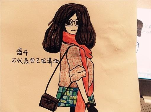 可爱卡通女生qq空间图片素材