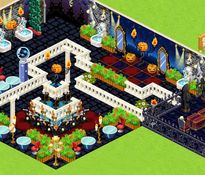 最新qq餐厅22级双层创意装修 恐怖的万圣节