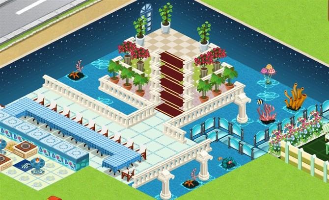三张意境qq餐厅装修 城堡广场