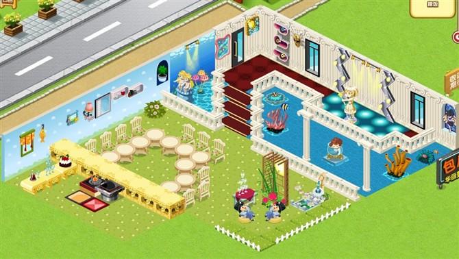 qq餐厅魔幻装修_完美的三层架构 多层QQ餐厅立体装修_QQ下载网