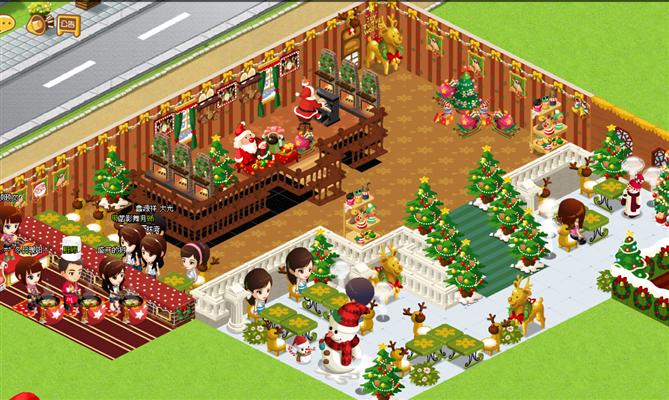 讨厌的圣诞装 qq餐厅圣诞节装修