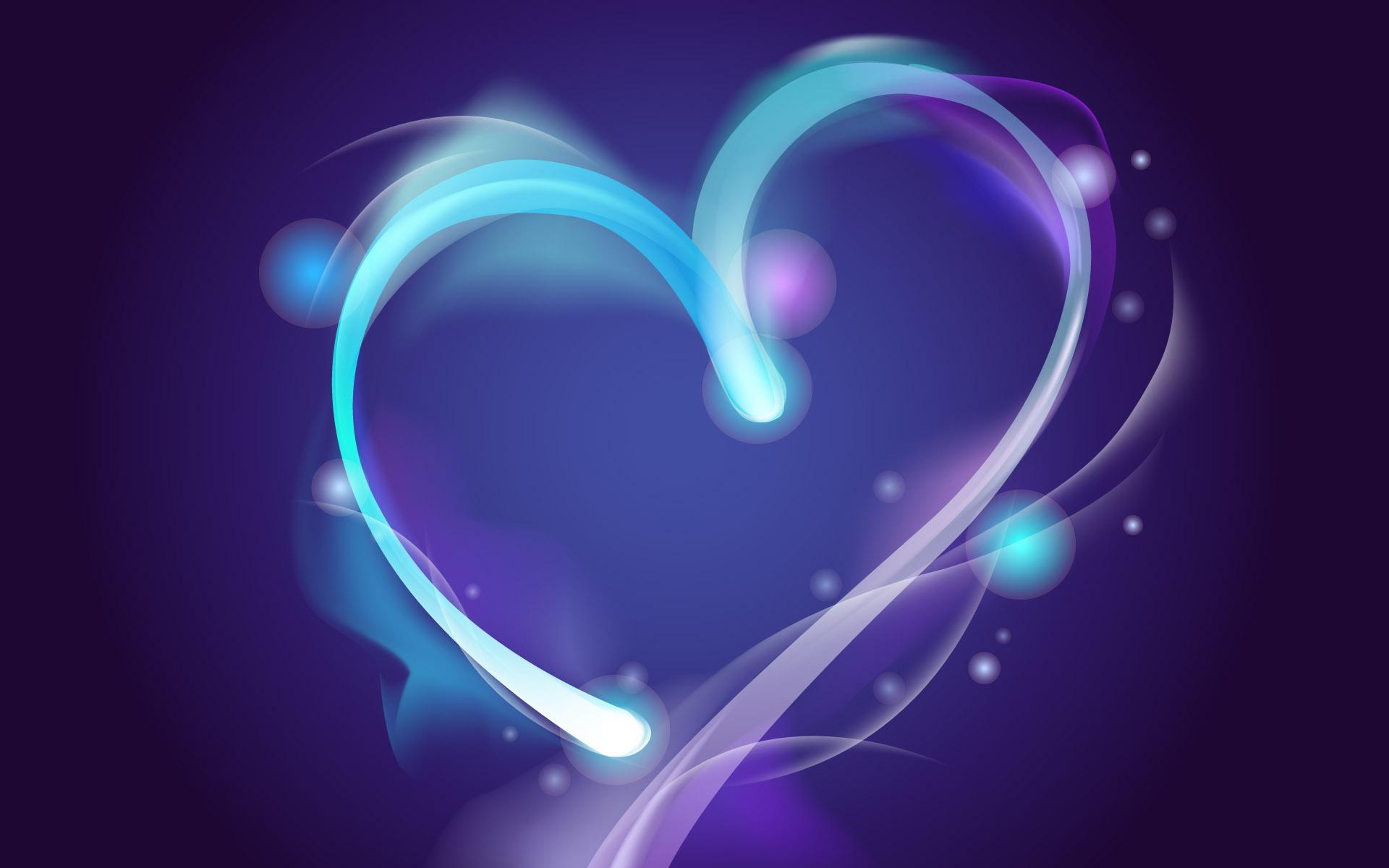 Abstract Wallpaper Black Hearts Blue 3d And Hd Wallpaper: 精美幻彩高清壁纸_描绘呐颗心_QQ下载网