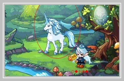 洛克/向图中的独角兽领取一个独角兽幼果(每天一个)