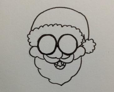 圣诞老人简笔画步骤图 教你简单的绘制圣诞老人