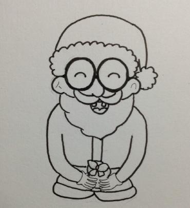 圣诞老人简笔画步骤