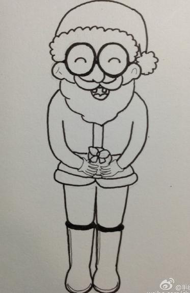 圣诞老人简笔画步骤图