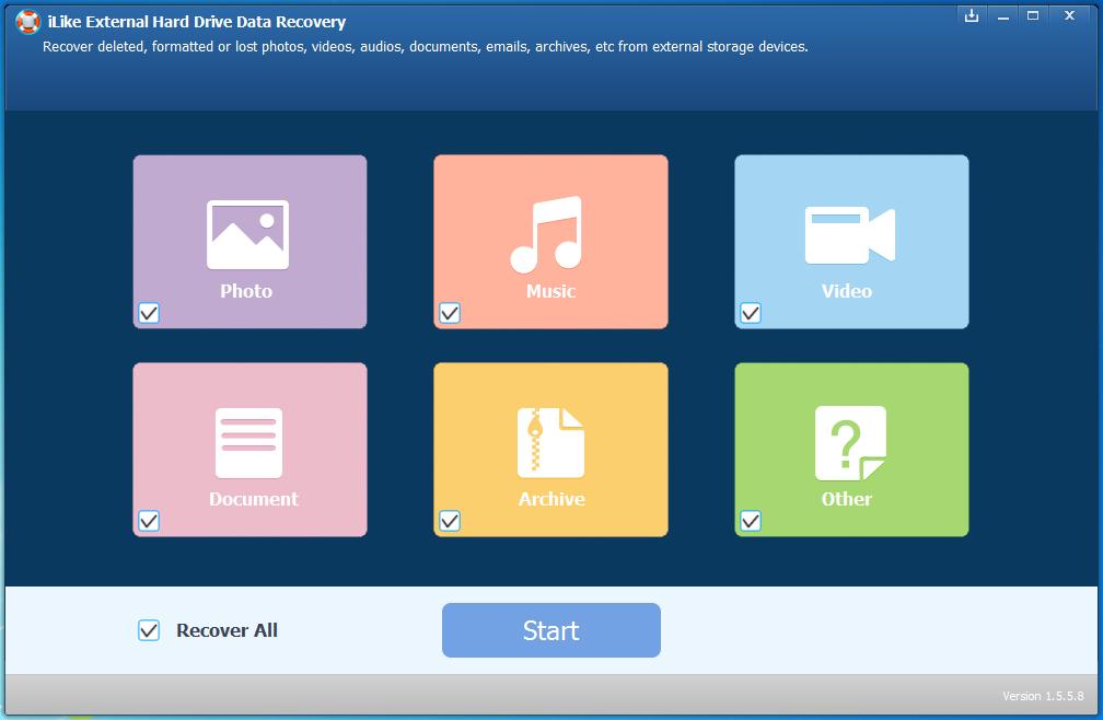 外置硬盘数据恢复软件-iLike External Hard Drive Data Recovery1.5.8.8 破解版-腾牛下载