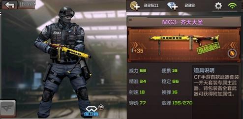 CF手游MG3齐天大圣怎么样 MG3齐天大圣属性评测
